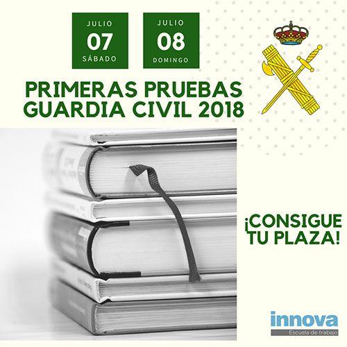 7 y 8 de julio: primeras pruebas de los exámenes Guardia Civil 2018