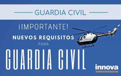 Nuevo requisito para los futuros guardias civiles