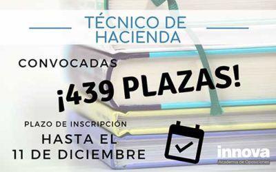 Convocadas 439 plazas para el Cuerpo de Técnico de Hacienda
