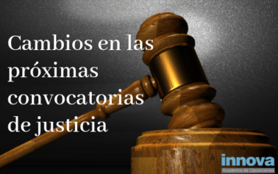 Novedades sobre las oposiciones de justicia de 2019