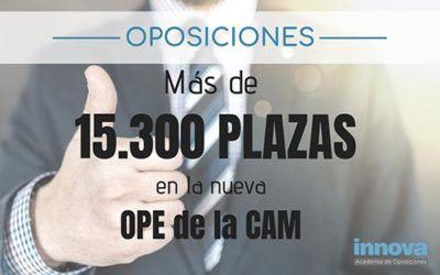 Más de 15.300 plazas en la nueva OPE de la CAM