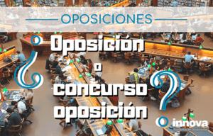 diferencias entre oposicion y concurso oposicion