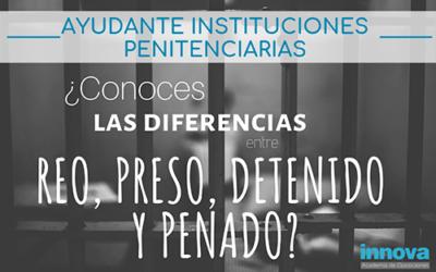 Diferencia entre reo, preso, detenido y penado