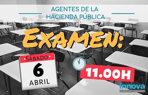 Lista provisional de admitidos y fecha de examen de Agentes de la Hacienda Pública