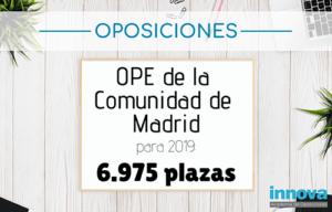 ope comunidad de madrid 2019