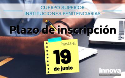 Convocadas 97 plazas del Cuerpo Superior de Instituciones Penitenciarias