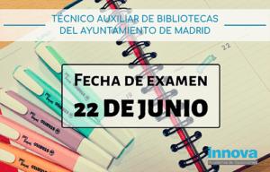 examen auxiliar bibliotecas madrid
