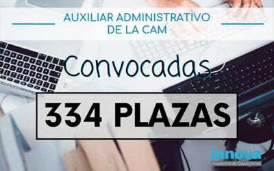 Abierta la convocatoria de Auxiliar Administrativo de la CAM