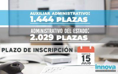 Convocadas las plazas de Auxiliar Administrativo y Administrativo del Estado
