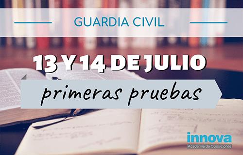 Oposiciones Guardia Civil: admitidos, fecha y lugar de examen