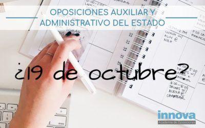 Previsión de fechas de examen para las oposiciones de la AGE