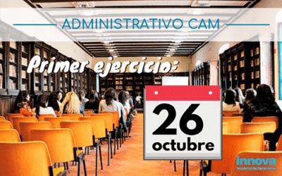 Publicada la lista definitiva de admitidos de Administrativos de la CAM