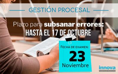 Publicadas listas provisionales de admitidos y fecha de examen de Gestión Procesal