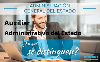 Diferencia entre auxiliar administrativo y administrativo del Estado