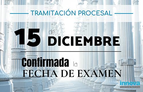 Publicadas listas provisionales y fecha de examen de Tramitación Procesal