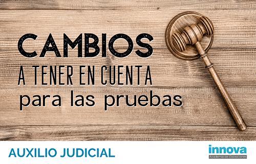 Justicia publica correcciones en la convocatoria de Auxilio Judicial