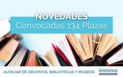 Publicada la convocatoria de las oposiciones de Auxiliar de Archivos, Bibliotecas y Museos del Estado