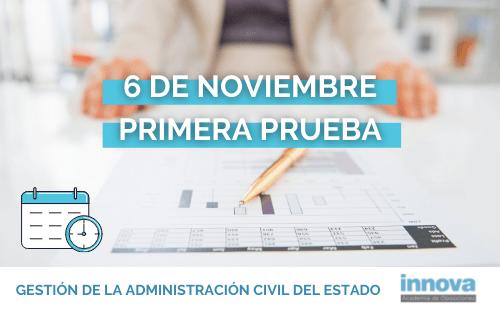 Publicada en el BOE la fecha del examen de Gestión de la Administración Civil del Estado
