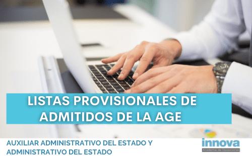 Publicadas las listas provisionales de admitidos para las oposiciones de la AGE